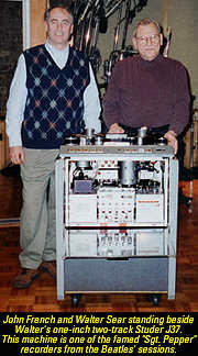 Walter Sear, John French, and the Sgt. Pepper machine